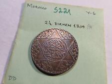 S221 Morocco 1309 2 1/2 Dirhams