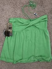 NWT Juicy Couture Green Sleeveless Top Size Adult L ~ Super Cute