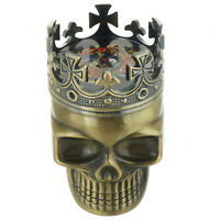 Tobacco Herb Spice Grinder Bronze Punk King Skeleton Skull Smoke Crusher Tool US