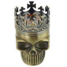 Tobacco Herb Spice Grinder Bronze Punk King Skeleton Skull Smoke Crusher Tool US