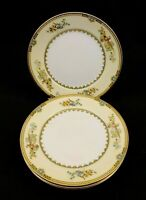 Noritake China Sheila Set of 4 Salad Plates 71854 Floral Design with Gold Trim
