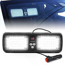 12 Flashing Pattern 86LED Emergency Warning Sunshield Visor Strobe Light - White