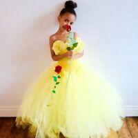 Princess Belle Disney Inspired Costume/Dress Age 3 - 12 Yrs