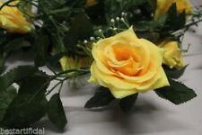 Flores secas y artificiales decorativas de color principal amarillo para el dormitorio