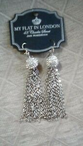 Brighton MY FLAT IN LONDON NOTTING HILL Silver French Wire Long EARRINGS NWT