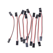 10Pcs 10cm 26AWG to Male JR Plug Servo Extension Lead Wire Cable S6