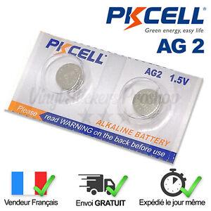 2 Piles Bouton AG2 Alcaline Pkcell LR59, LR726, G2, 196, GP96A, 396, SR726SW