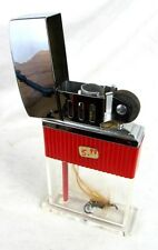 GIANT TABLE LIGHTER VISABLE *FLY FISHING* *AUER ZEPHYR LUCITE c.1950'S