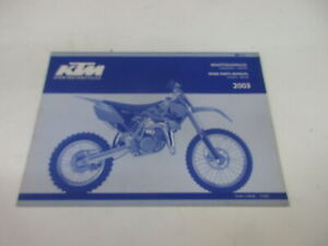 Ktm 85 SX 2003 Catalogo Ricambi Motore Telaio Manuale Risparmio 3.208.80