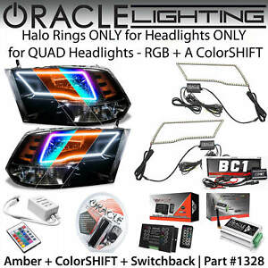 ORACLE ColorSHIFT+SWITCHBACK Halo Kit for SPORT Headlights for 09-18 Dodge RAM