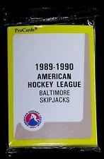BALTIMORE SKIPJACKS 1989 PROCARDS AHL MINOR LEAGUE HOCKEY SEALED TEAM SET W/LIST