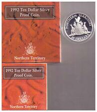 1992 RAM $10 Silver Proof Australian State Series - Northern Territory