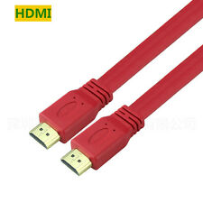 Plug & Play 1.4a HDMI to HDMI Flat Cable 1.4V 1080P for HDTV Monitor DVD TV PS3