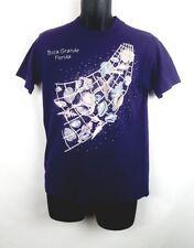 Vintage Boca Grande Florida Mens T Shirt Medium Purple 80s 90s Shell Ocean E3