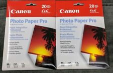 Canon Photo Paper Pro 4x6, 2 Packs Of 20 Sheets, Unopened