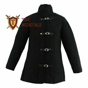Medieval gambeson under armor costumes knight armor jacket sca dress cotton coat