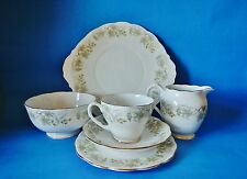 Roslyn China Vintage Roble Muestra Set-Trio Sugar & Leche + Placa