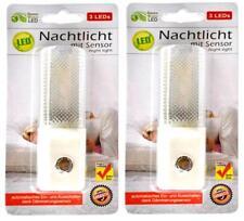 2x LED Nachtlicht mit Sensor und 3 LEDs | Kinderzimmerlampe | Baby Nachtlicht