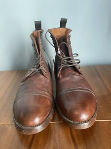 FRYE 'CHASE' Brown Leather Lace Up Ankle Boots Men's Size 9M
