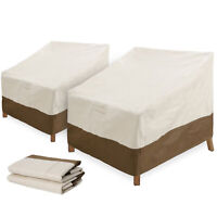 2 pcs Covers Lounge Patio Chair Deep Seat Cover Lawn Patio Furniture Covers