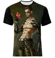 NEW DEUS EX MANKIND DIVIDED FRONT COTTON  FULLY PRINTED ACTION-PACKED T-SHIRT!