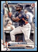 2021 Bowman Sky Blue #78 Yordan Alvarez /499 - Houston Astros