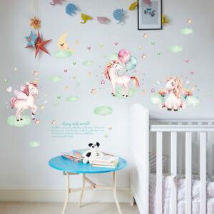 Three Beautiful Sleeping Unicorn Sticker Decal Wall Sticker Children's Bedroom