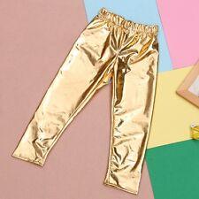 US Stock Fashion Toddler Kids Girls Pant Shiny Solid Skinny Legging Trouser NEW