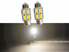2Pcs Warm White Festoon 31MM 5630 4SMD CANBUS Error Free Car Dome LED Bulbs