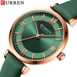 CURREN Women Quartz Watch Casual Leather Wristwatch Ladies Girl Business Watches