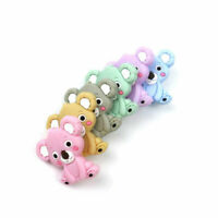 Koala Teether Food Grade Silicone Beads Baby Teething Pacifier Clip Making Toys