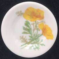 Railroad China AT&SF California Poppy Pattern Butter Pat Plate