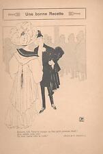 ▬► Original Print Humour Curiosa 1919 Dessin Georges Léonnec Une bonne recette
