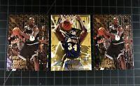 Shaquille SHAQ O'Neal FLEER METAL & ZUPERMAN NBA Lakers Rookie (3 Card LOT) MINT