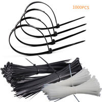 """1000 Pcs 8""""Self-Locking Plastic Cable Ties Wrap Wire Cord Zip Tie Strap  3x200mm"""