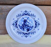 VTG Wissterling Schwarzenbach Bavaria Germany Salad Plate Blue Dutch Windmill