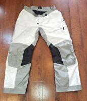 Klim Latitude Gore-Tex D-30 Armor Reflective Cordura Gray~White Pant Sz 40 EUC!!