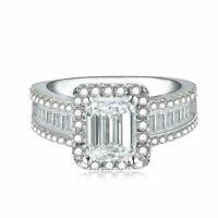 Elegant 925 Silver Wedding Rings Women Jewelry White Sapphire Rings Size 6-10