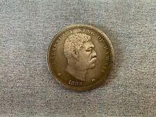 Kingdom of Hawaii One Dollar KAHI DALA 1883 Kalakaua I King