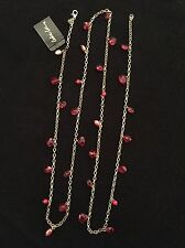 NEW WITH TAGS COOKIE LEE RED BRIOLETTE NECKLACE 20 INCHES LONG