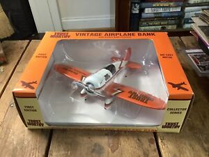 Trust Worthy Vintage Airplane Bank First Edition NIB