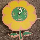 Vintage  Working Sessions #2373 Electric Flower Shaped Wall Clock USA