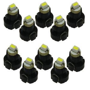 10x White Neo Wedge 1 SMD 1210LED Car Bulbs T3 HVAC Climate Control Lights N001