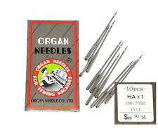 10 ORGAN TITANIUM #14 15X1 HAX1 15X1PD FLAT SHANK HOME UNIVERSAL SEWING NEEDLE