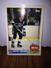 1990-91 WAYNE GRETZKY ERROR CARD! BLANK BACK - 1 OF A KIND?! TOPPS #12