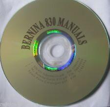 Bernina 830 Sewing Instruction Manual + Adjustment Guide Bernina 830-832 CD/PDF
