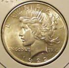 BU 1922 Peace Dollar 90% Silver Very Nice 130923-24