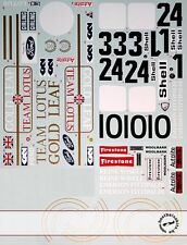 1/12 TRANS DECAL LOTUS 72C EARLY 72D for TAMIYA LOTUS 72D FITTIPALDI RINDT