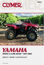 CLYMER SERVICE MANUAL YAMAHA BIG BEAR YFM350 MOTO-4 1987-99, YFM400 2000-04 2WD