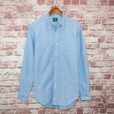 Kamakura Maker's Shirt Japan Men's Madison Slim fit Button Down Blue 15 3/4